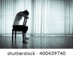 isolated woman sitting on a... | Shutterstock . vector #400439740