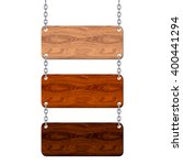 blank wooden signboard set... | Shutterstock .eps vector #400441294