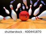 Bowling Background With Pins...