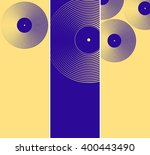 3 vinyl records pattern... | Shutterstock .eps vector #400443490