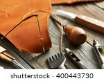 leather crafting diy tools... | Shutterstock . vector #400443730