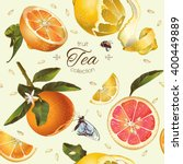 Vector Vintage Citrus Tea...
