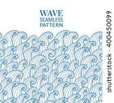 waves seamless border pattern.... | Shutterstock .eps vector #400450099