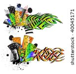 undegraund_graffiti_street_urban | Shutterstock .eps vector #40045171