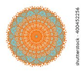 hand drawn mandala in arabic ... | Shutterstock .eps vector #400452256