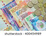 close up hong kong currency... | Shutterstock . vector #400454989
