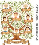 family tree with portraits of... | Shutterstock .eps vector #400456150