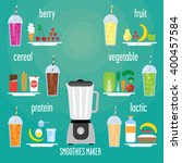 many types of smoothie  berry ... | Shutterstock .eps vector #400457584
