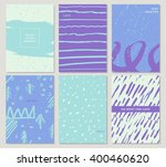 collection of party art cards... | Shutterstock .eps vector #400460620
