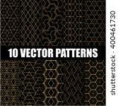 ten geometric patterns | Shutterstock .eps vector #400461730