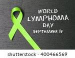 lime green ribbon. lymphoma... | Shutterstock . vector #400466569