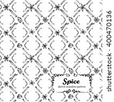 spice sketch vector seamless... | Shutterstock .eps vector #400470136