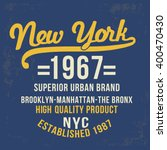 vintage new york typography  t... | Shutterstock .eps vector #400470430