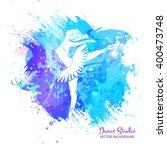 vector background. ballerina in ... | Shutterstock .eps vector #400473748