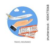travel insurance flat icon for...   Shutterstock .eps vector #400475068