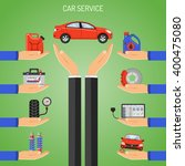 car service concept icons with... | Shutterstock .eps vector #400475080