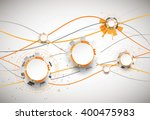 abstract orange colored... | Shutterstock .eps vector #400475983