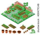 garden in spring. isometric... | Shutterstock .eps vector #400479148