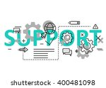 support concept flat line...   Shutterstock .eps vector #400481098