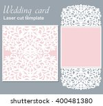 vector die laser cut wedding... | Shutterstock .eps vector #400481380