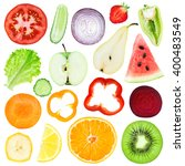 slices of fruit and vegetable... | Shutterstock . vector #400483549