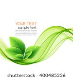 vector eco leaves and green... | Shutterstock .eps vector #400485226