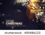 christmas background. fir... | Shutterstock . vector #400486123