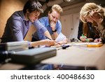 group of designer working on... | Shutterstock . vector #400486630