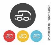 goggles icon | Shutterstock .eps vector #400492534