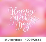 happy mother's day card with... | Shutterstock .eps vector #400492666