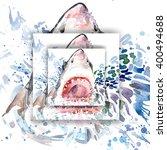 shark t shirt graphics design.... | Shutterstock . vector #400494688