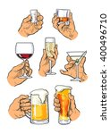 set of male and female hands... | Shutterstock .eps vector #400496710