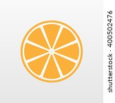 orange icon. slice vector... | Shutterstock .eps vector #400502476