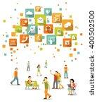 modern social communication... | Shutterstock .eps vector #400502500