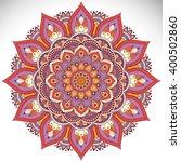 flower mandalas. vintage... | Shutterstock .eps vector #400502860