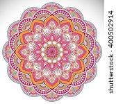 flower mandalas. vintage... | Shutterstock .eps vector #400502914