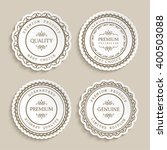 set of vintage vector labels... | Shutterstock .eps vector #400503088