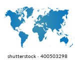world map vector isolated on... | Shutterstock .eps vector #400503298