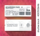 boarding pass ticket white... | Shutterstock .eps vector #400503646