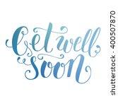 colorful brush lettering.... | Shutterstock .eps vector #400507870