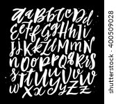handwritten alphabet. vector... | Shutterstock .eps vector #400509028