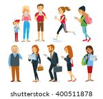different characters with... | Shutterstock .eps vector #400511878