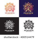 illustration peacock  logo... | Shutterstock .eps vector #400514479