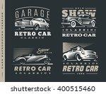 retro car logo illustrations on ...   Shutterstock .eps vector #400515460