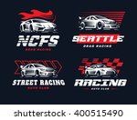 sport car logo illustration on...