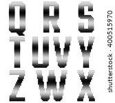 set of vector halftone letters. ... | Shutterstock .eps vector #400515970