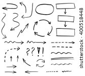 collection of hand drawn arrows ... | Shutterstock .eps vector #400518448