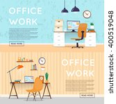office interior with designer... | Shutterstock .eps vector #400519048