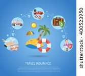 travel insurance service... | Shutterstock .eps vector #400523950