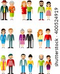 all age group of  european... | Shutterstock .eps vector #400524919